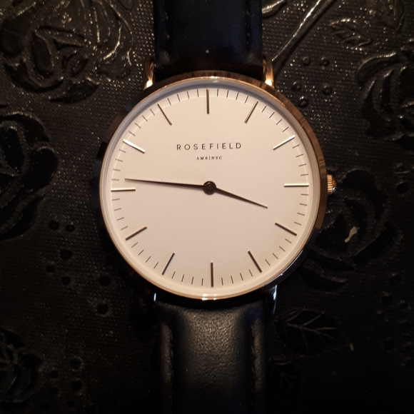 Rosefield watch with black band
